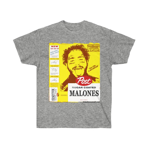"Post Malone's Post Malones Cereal ""Eat like a ROCKSTAR"" Funny Cereal Box Tee"