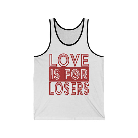 Love Is For Losers Funny Tennis Score Tank Top With Vintage Female Tennis Player