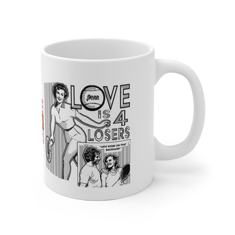 Love Is For Losers Funny Backhand Tennis Mug
