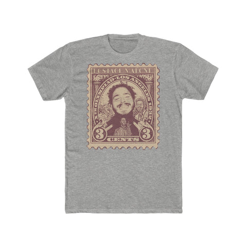 Postage Malone ( Post Malone ) Funny Old Stamp Collage Tee