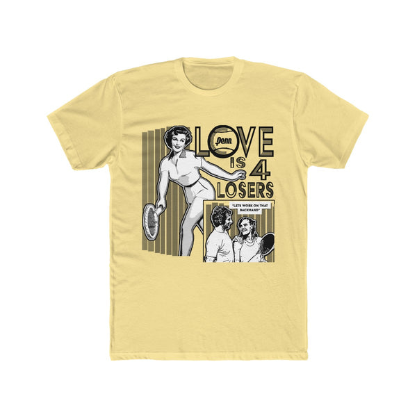 "Love Is For Losers ""Let's Work On That Backhand"" Funny Tennis Score Tee"