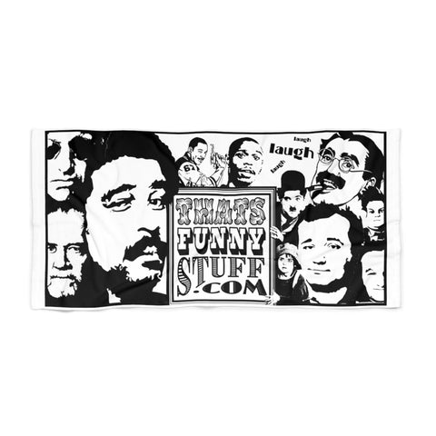 That's Funny Stuff History of Comedy Beach Towel
