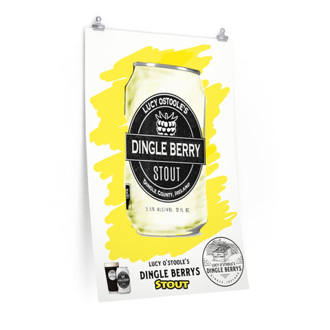 Dingleberry Stout Dingle Ireland Lucy O'Stoole's Paddys Day Beer Ad Funny Poster