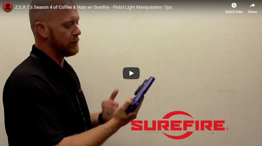 Z.E.R.T.'s Season 4 of Coffee & Hate w/ Surefire - Pistol Light Manipulation Tips