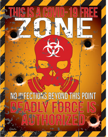 Image of COVID 19 FREE ZONE STICKERS (LIMITED)