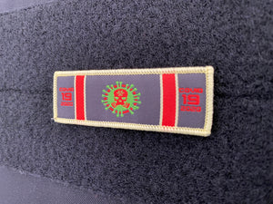 COVID 19 SERVICE RIBBON PATCH (2-PACK)