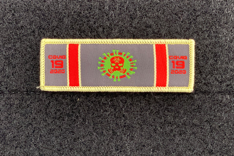 Image of COVID 19 SERVICE RIBBON PATCH (2-PACK)