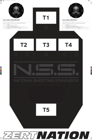 N.S.S. NATIONAL SHOOTING STANDARDS TARGET