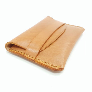 Personalised Leather Card Case-Full Grain Leather Card Wallet- Leather Card Holder-Envelope Style Card Wallet-Laser Engraved