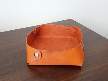 Leather Valet Tray - Desk Tidy - Leather Catchall