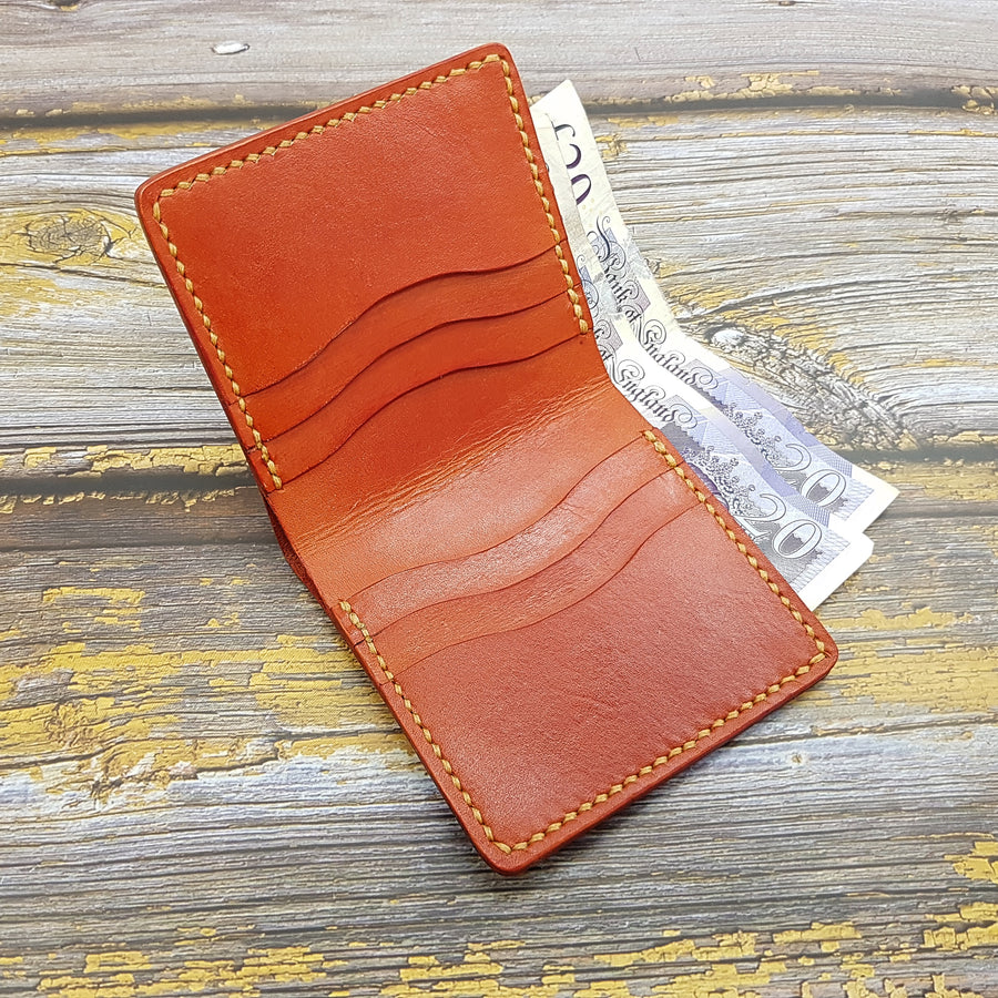 Leather Wallet- Mens Billfold Wallet-Minimalist Leather Wallet
