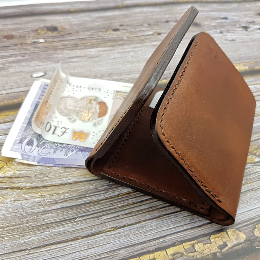 Leather Tri-Fold Wallet- Mens Handcrafted Wallet - Leather Wallet