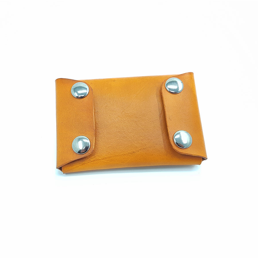 Leather Card Case-3 Pocket-No Stitch Design-Snap Button Pockets-Laser Engraved-Personalised