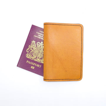 Leather Passport Cover-Travel Wallet-Handcrafted Passport Case - B26 Handmade Leather Goods