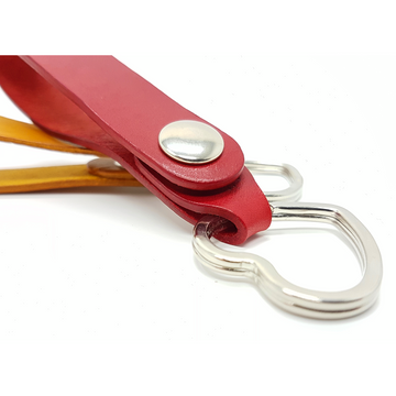 Love Heart Leather Keychain with Belt / Bag Hanger loop-Leather Keychain - B26 Handmade Leather Goods