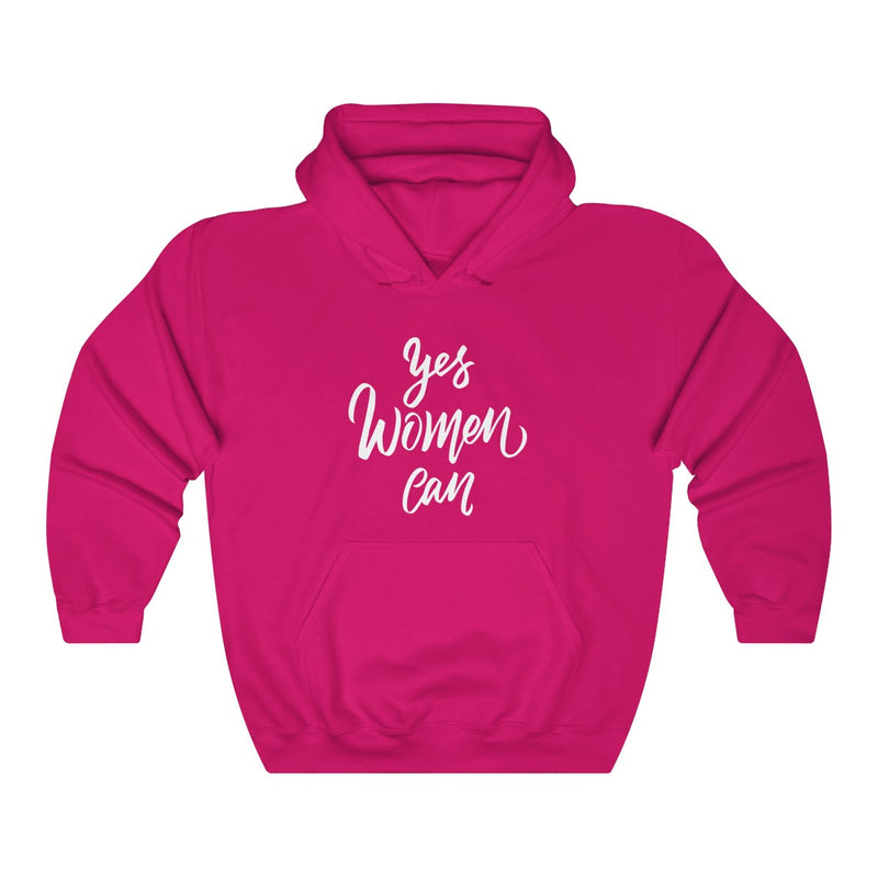 yes women can unisex hoodie