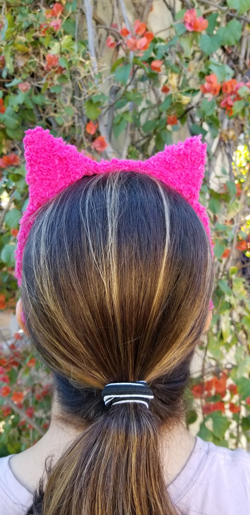 Hot Pink Plush Pussy Hat Headband