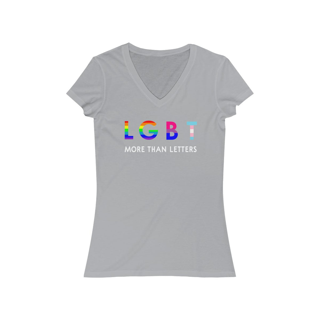 LGBT More Than Letters  V Neck T Shirt
