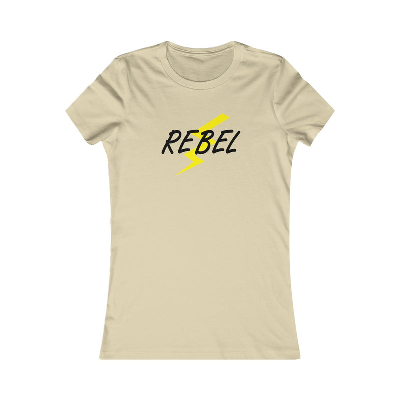 Rebel Lightning Bolt Women's Fitted T Shirt