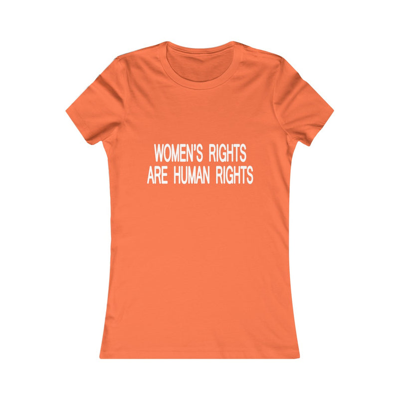 women's rights are human rights fitted t shirt