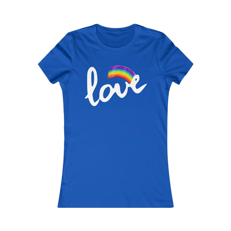 Love With Rainbow Women's Fitted T Shirt