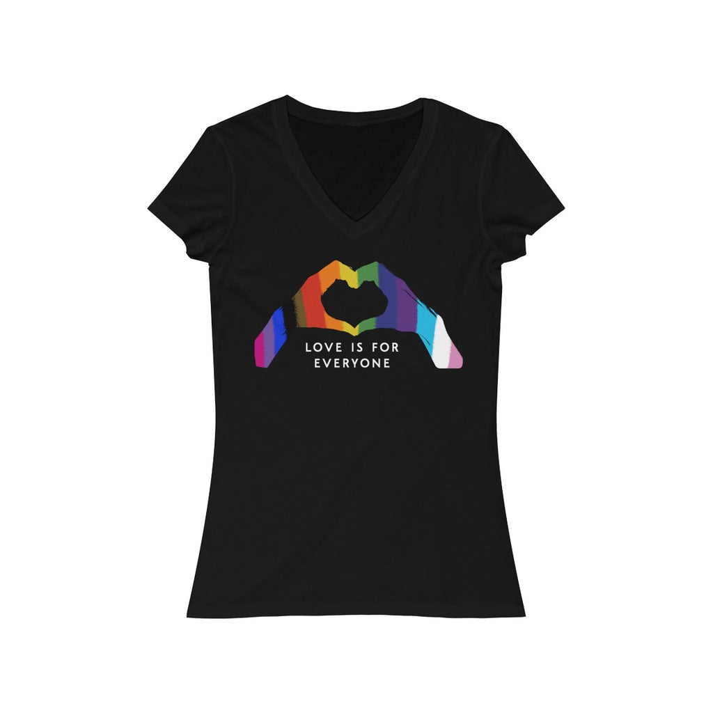 Love Is For Everyone V Neck T Shirt  LGBT  Gay Bisexual Trans