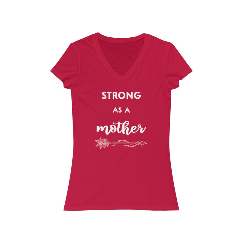 strong as a mother with arrow v neck t shirt