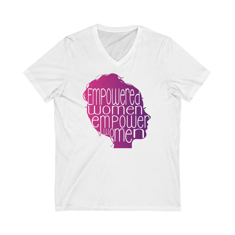 Empowered Women Empower Women V-Neck T Shirt New