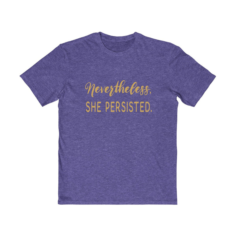Nevertheless She Persisted Unisex T Shirt  Gold Lettering