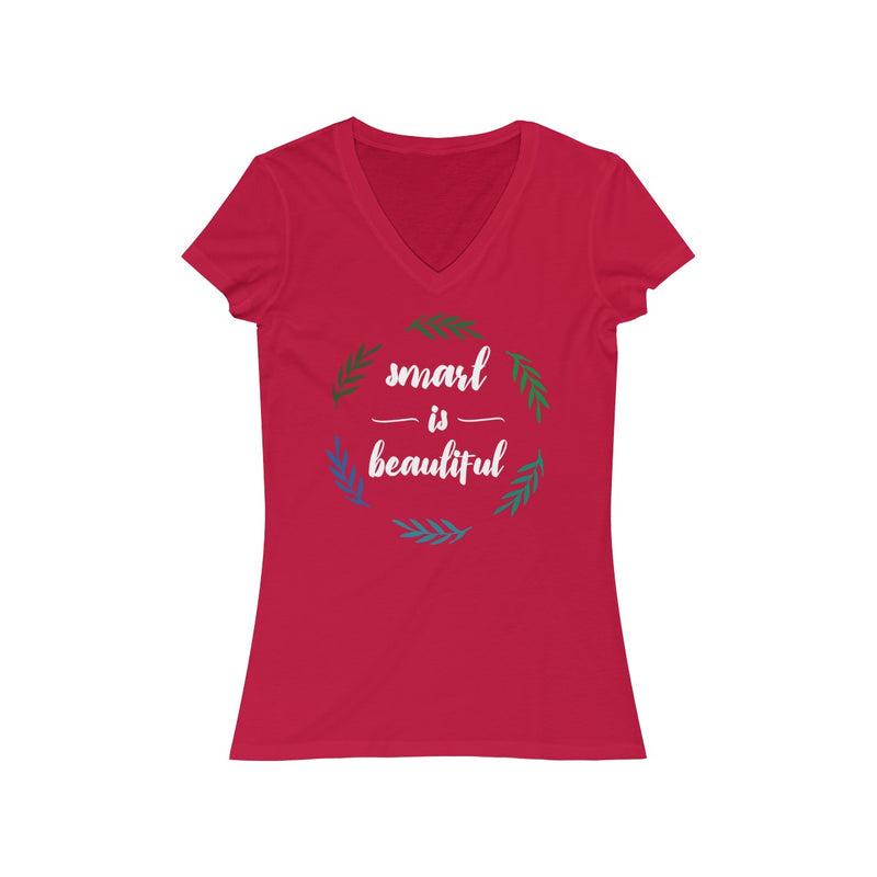 Smart Is Beautiful V Neck T Shirt