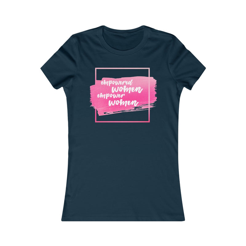 Empowered Women Empower Women Women's Fitted T Shirt Pink Graphic