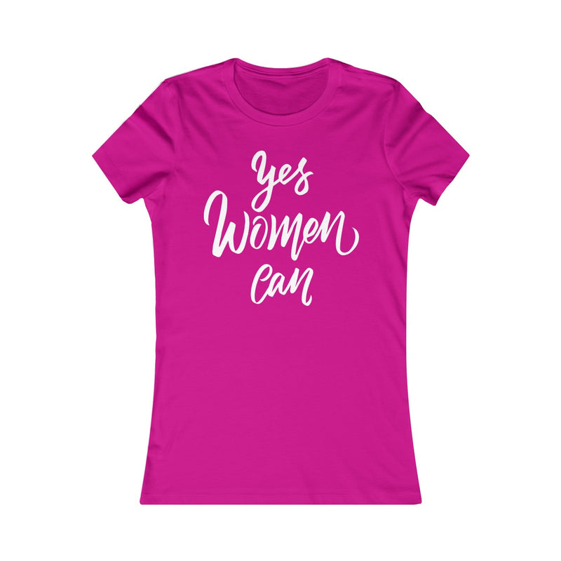 Yes Women Can  Women's Fitted T Shirt