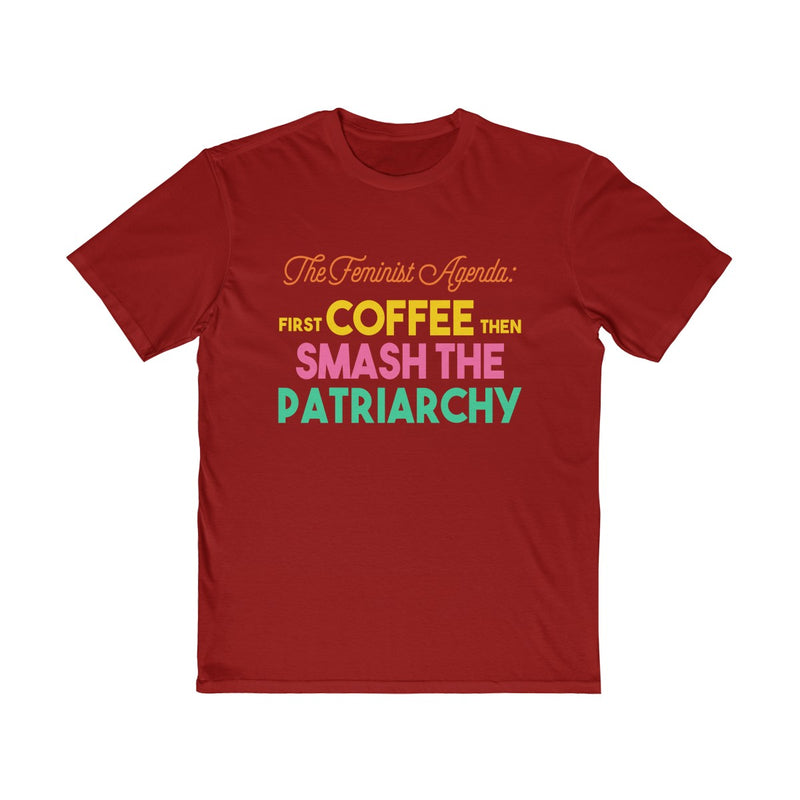 Feminist Agenda Coffee Smash The Patriarchy  Unisex T Shirt
