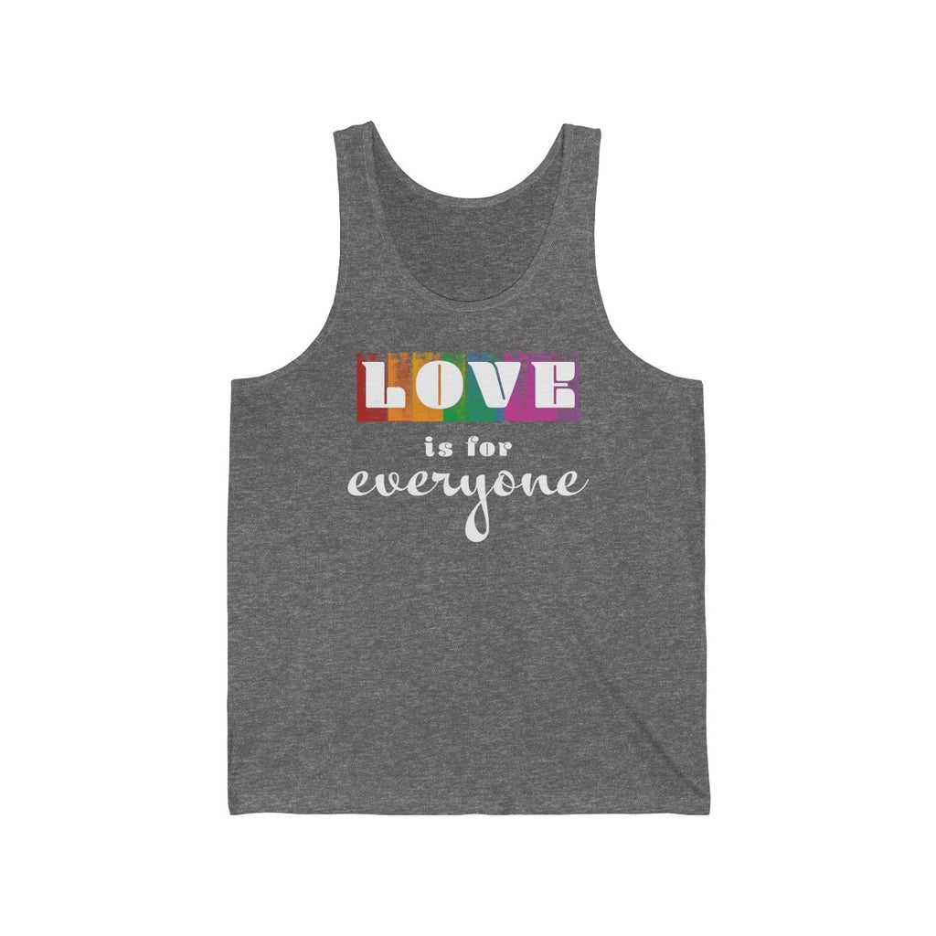 Love Is For Everyone  Unisex Tank Top