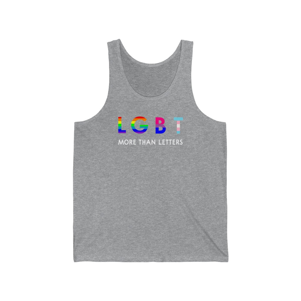 LGBT More Than Letters Unisex Tank Top