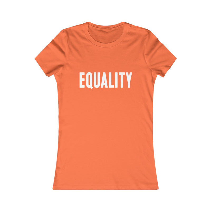 equality fitted women's t shirt