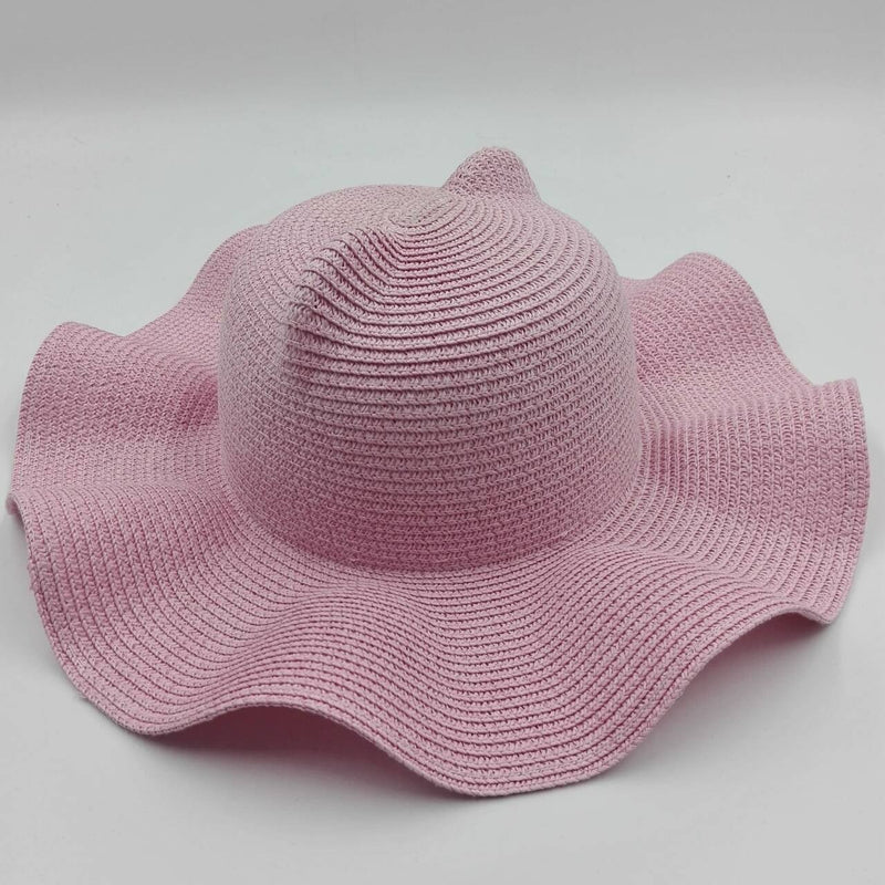 light pink beach hat ears