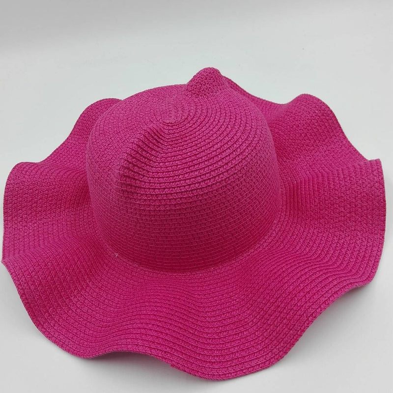 hot pink beach hat ears