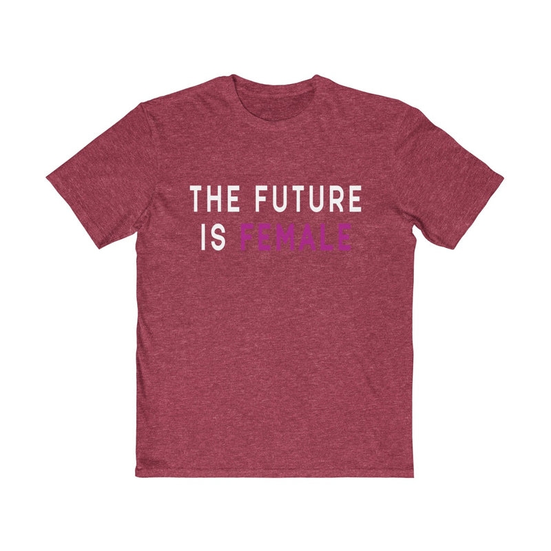 The Future Is Female | Unisex T Shirt | White and Pink Letters