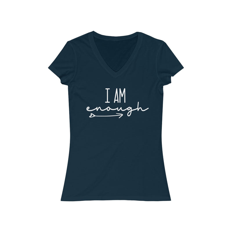 i am enough with arrow and heart v neck t shirt