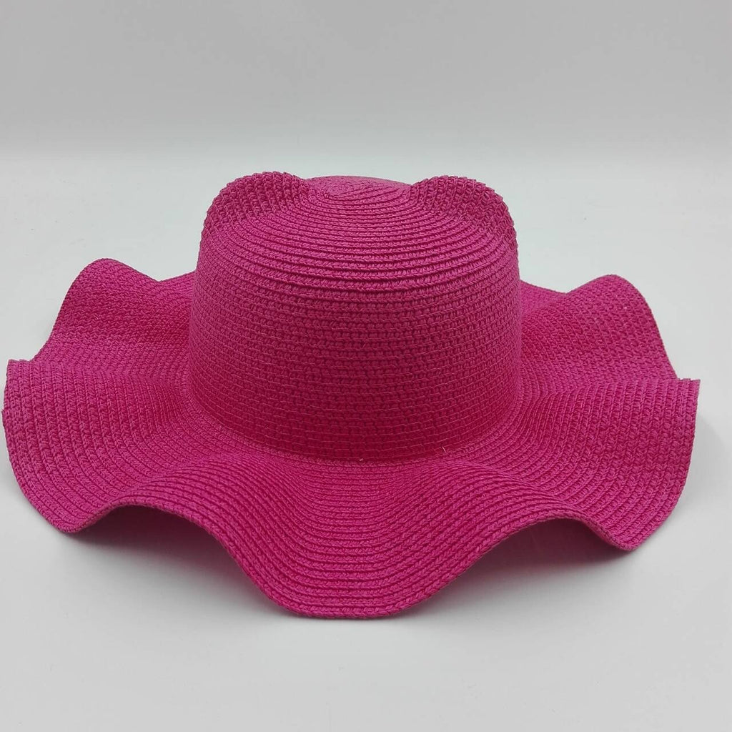 hot pink pussy hat wide brimmed beach hat