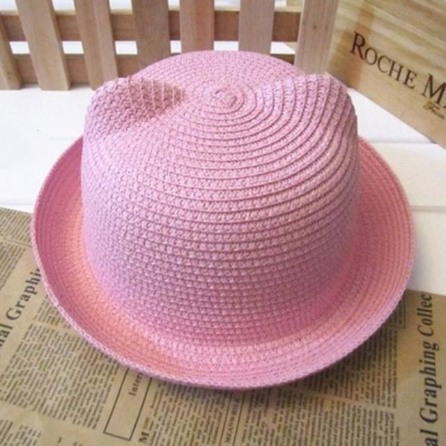 Light Pink Straw Pussy Hat