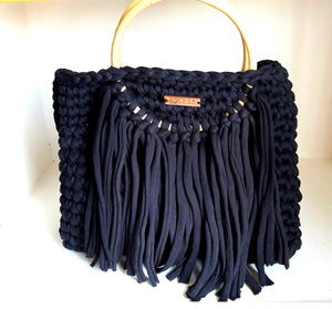 Large Rosa Tassel Tote Bag