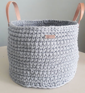 Versatile Large Basket with Leather Handles