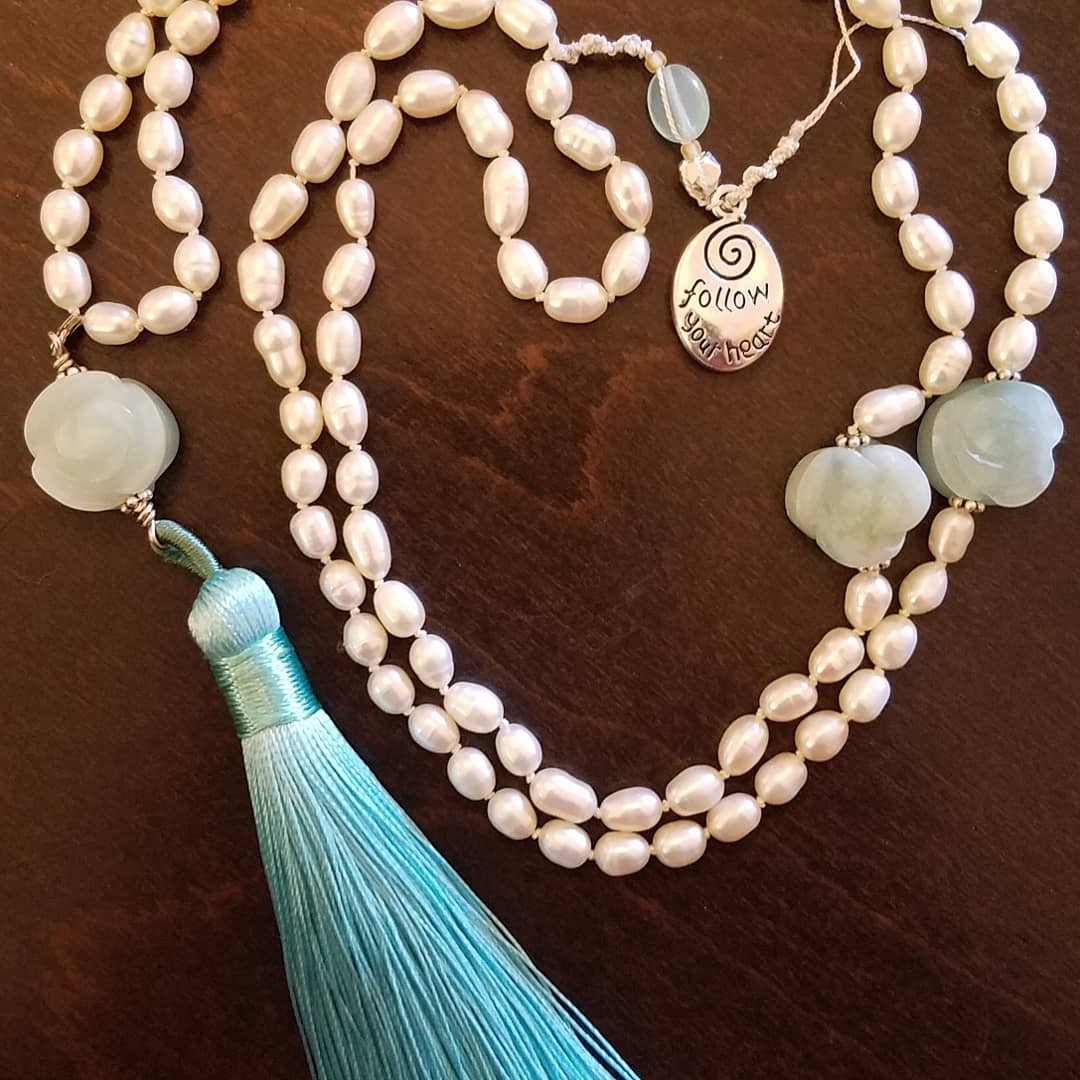 SOLD: Pearl and Agate Mala
