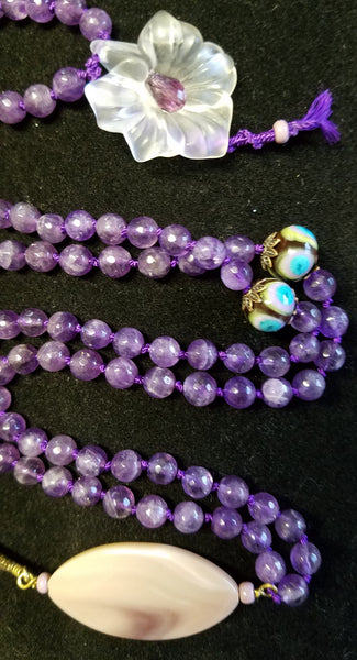 SOLD: Amethyst with Agate Focal Beads