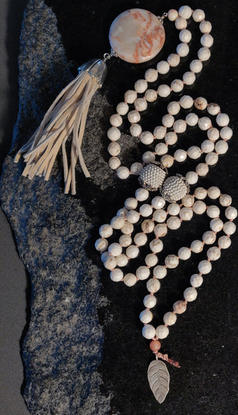 Sold: Howlite and Feldspar Mala