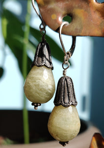 SOLD: Agate Drop Earring