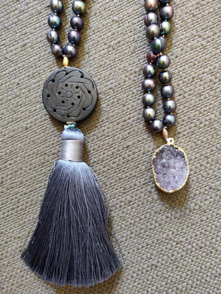 Serenity Mala with Matching Earrings and Inspiration Necklace