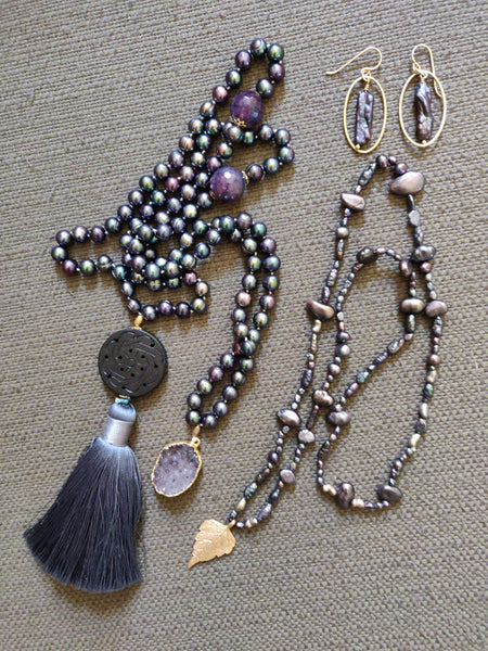 Matching Earrings for Serenity Mala and Inspiration Necklace)